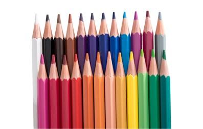 Estojo de lápis de cor com 24 cores não tóxico.