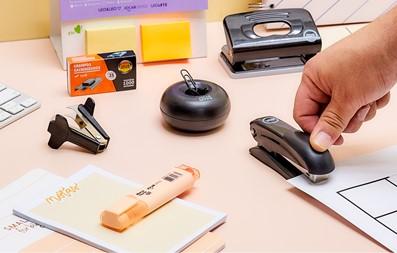 Kit office da loja de material de escritório.