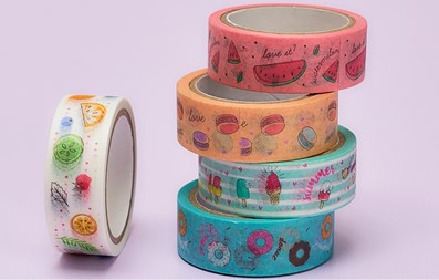 Washi tapes decorados.