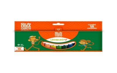 Kit de giz de cera com 15 cores