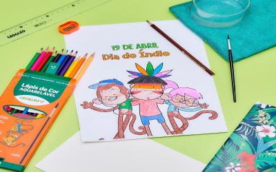 Estojo de lápis de cor aquarelável 12 cores
