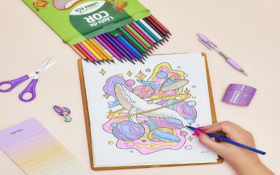 Estojo de lápis de cor eco em 24 cores