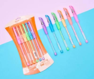 canetas esferográficas gel da linha Pastel Trend