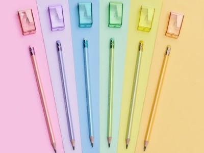 Apontador para lápis em diversas cores